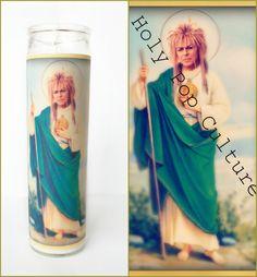 Saint Jareth Prayer Candle Labyrinth David by HolyPopCulture, $10.00
