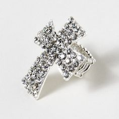 Go for the bold: Jeweled Cross Ring #moreismore