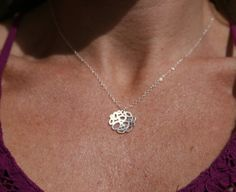 sterling silver pendant necklace simple by uniquelyyoubydesign, $30.00