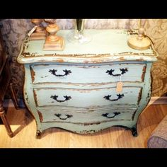 how to paint a chest to look rustic | Vintage French Style Chest of Drawers ~ Shabby Chic Furniture