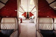 """The finer things in life. Online living the rich life Click """"home"""" to open menu. Luxury Jets, Luxury Private Jets, Private Plane, Luxury Yachts, Yacht Design, Click Home, Private Jet Interior, Private Flights, Aircraft Interiors"""