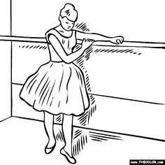 edgar-degas-dancer-at-the-barre Coloring Page
