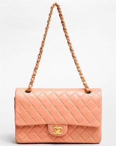 Chanel Rare Coral Lambskin Quilted 2.55 Double Flap Bag