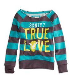 77 striped sweatshirt