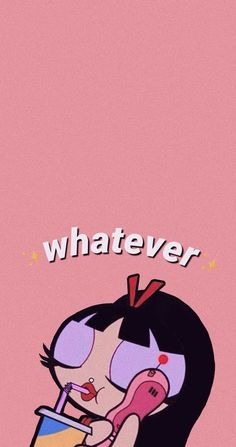 Pink Wallpaper Cartoon, Powerpuff Girls Wallpaper, Funny Iphone Wallpaper, Mood Wallpaper, Aesthetic Pastel Wallpaper, Cute Cartoon Wallpapers, Aesthetic Wallpapers, Aesthetic Gif, Aesthetic Grunge