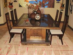 Custom Dining Room Tables and Chairs - http://quickhomedesign.com/custom-dining-room-tables-and-chairs/?Pinterest