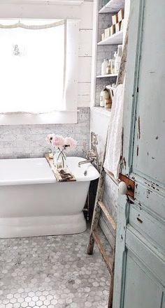 Decor Inspiration: French-Inspired vintage Bathroom Remodel