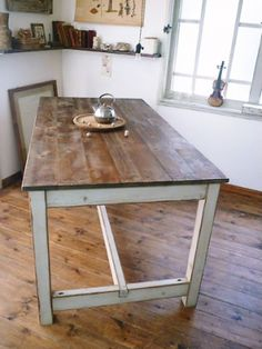 Handcrafted table from a Japanese online store