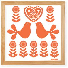 Scandinavian Folk Art Designs Retro folk art scandinavian