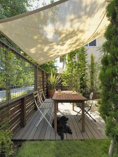 Pergola For Small Patio Backyard Patio Designs, Backyard Landscaping, Porch Shades, Shade House, Porche, Outdoor Living, Outdoor Decor, Outdoor Spaces, Diy Pergola