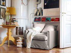 IKEA Österreich, Inspiration, Wohnzimmer, Plaid GURLI, Leuchte TIVED