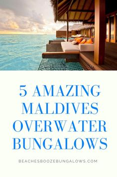 5 Amazing Maldives Overwater Bungalows Overwater Bungalows, Girls Getaway, Beach Quotes, What To Pack, Beach Fun, Maldives, Beach House, Around The Worlds, Boat