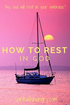 Rest we all need it. We physically can't go on without stopping. Rest is essential, but it all depends where you rest. Sometimes we try to rest in things other than God, which isn't restful at all. Come along with spirituallyhungry.com and learn how to Rest in God.
