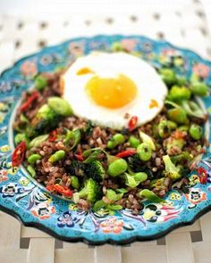 Edamame red fried rice