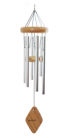 "This 18"" Majesty Bells chime will make light, breezy music in the gentle breezes around your home, and its size makes it perfect for a small balcony or patio."