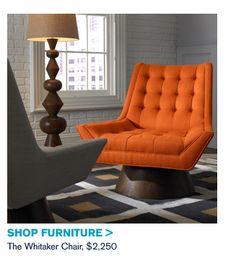 Retro fabulous orange recliner
