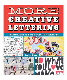 Look what I found on #zulily! More Creative Lettering Paperback #zulilyfinds