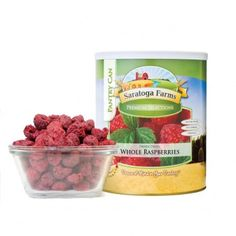 Freeze Dried Whole Raspberries Pantry Can