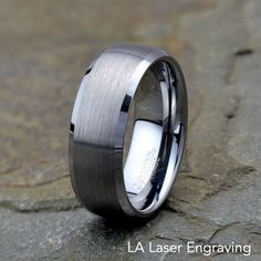 Tungsten Wedding Band Tungsten Ring Domed by LALaserEngraving Unique Wedding Bands, Womens Wedding Bands, Wedding Men, Men Wedding Rings, Wedding Ideas, Wedding Shit, Wedding Bells, Wedding Designs, Wedding Stuff