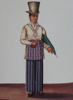 Six 19th Century Outfits According to Damian Domingo's Tipos del Pais