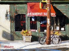 Dan Graziano - red awning- Oil - Painting entry - November 2012 | BoldBrush Painting Competition