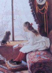 Elin Danielson-Gambogi: Tyttö, tamburiini ja koira