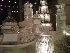 White candy buffet - Sweet I Do's