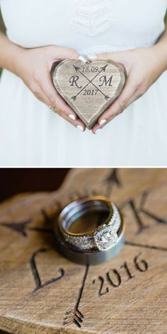 Wooden Wedding Ring Holders
