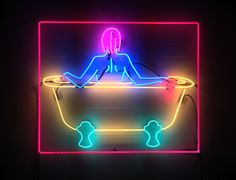 """For her day job, Kate Hush fabricates neon art and lighting for others. She's been creating """"digital neon"""" art for ages—posted as animations&nbsp. Neon Light Signs, Neon Signs, Neon Colors, Colours, Neon Licht, Neon Words, All Of The Lights, Neon Aesthetic, Light Of My Life"""