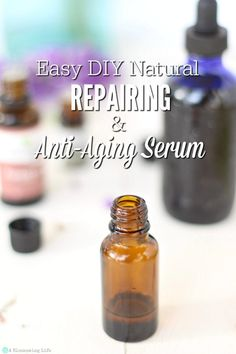 This DIY face serum helps repair skin, reduce fine lines, and brighten overall skin tone to reveal more youthful and even skin. Made with just a few simple ingredients, this natural DIY anti-aging serum will easily become a vital part of your nightly routine. #ablossominglife #diyfaceserum #antiagingserum #diyskincare #faceserum