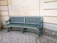 Garden Bench. Marie Antoinette had her own style of benches at Petit Trianon, Versailles.