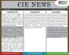 CSB CIE news: (June 3): The Reserve Bank of India has scaled down the growth projection of economy for the current fiscal to 7.6 per cent from 7.8 per cent projected in April as poor monsoon and rising crude oil prices continue to remain a drag for Asia's third biggest economy. Don't miss the updates! To read more, visit http://www.csbhouse.com/Research-Reports.aspx?ReportId=1 #stocks #globalnews #researchreports