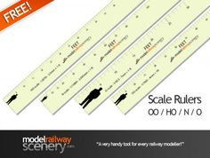 Free Download & Print Scale Rulers For Railway Modellers - Every railway modeller should have one of these in their toolkit! Our download and print scale rulers are just the job when scratchbuilding or working out the spacing of all manner of things on your layout. Each ruler is marked out in scale feet, so 4mm/ft for OO scale, 2mm/ft for N gauge etc. #modelrailway #layout #tools #download