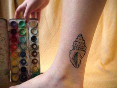 Seashell Tattoos Designs Pictures of seashell tattoos