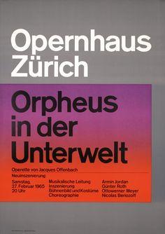 83: Josef Muller-Brockmann Opernhaus 2 Posters : Lot 83