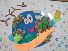 Earth Day Crafts for Kids - Preschool and Kindergarten - Gifts For Love Kids Crafts, Preschool Crafts, Projects For Kids, Earth Day Activities, Spring Activities, Preschool Activities, Kindergarten Gifts, Earth Day Crafts, Recycled Magazines