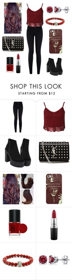 """""""...<3"""" by ariadna-sayago-gasparovich ❤ liked on Polyvore featuring Yves Saint Laurent, Casetify, MAC Cosmetics, BERRICLE, women's clothing, women's fashion, women, female, woman and misses"""