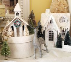 painting glitter houses | ... outside decorating to do this week (in-between painting my kitchen