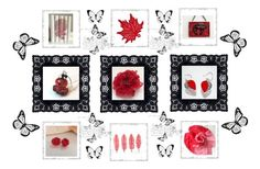 """""""Lovely Red Gifts"""" by keepsakedesignbycmm ❤ liked on Polyvore featuring jewelry and accessories"""