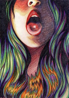 """clkillustration: """"LSD Ad."""" Colored Pencil. 2014. For my applied drawing class (advertising assignment)."""