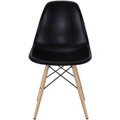 Modway Furniture Pyramid Dining Side Chair - Black Eei-180-blk found on Polyvore featuring home, furniture, chairs, dining chairs, sedie, kitchen & dining room chairs, molded plastic furniture, black furniture, black kitchen chairs and plastic dining chairs