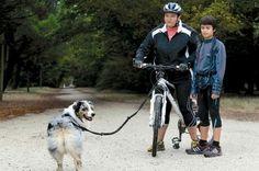 Bikejoring with an Aussie