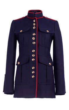 21cc45bc9512 Regimental Jacket With Military Piping by BURBERRY for Preorder on Moda  Operandi Piece Of Clothing