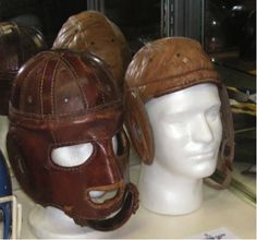 old football helmets
