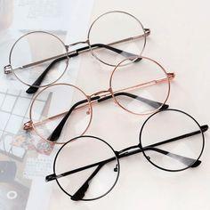 988b3cf24e Transparent circle round metallic frame korean clear potter glasses. Circle  Glasses FramesTumblr ...