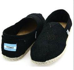 Cheap Toms Black Hollow Shoes on sale