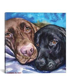 Icanvas George Dyach Icanvas George Dyachenko Labs Wrapped Canvas Zulily Like Our Facebook Http Bit Ly 2a5xiq Labrador Retriever Hunde Gemalde Tier Fotos