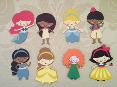 Silhouette cameo Disney princesses