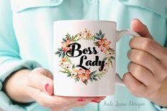 BOSS LADY MUG / Ceramic Mug / Work Coffee Mug/ by KaliLaineDesigns