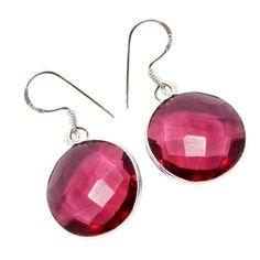 Silvestoo India Pink Quartz Gemstone 925 Sterling Silver Earring PG-100774   https://www.amazon.co.uk/dp/B06XWYFBNS